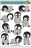 Bambinellas Stickerparade - 10 Sticker - Motiv: Pinguin - Made in eigener Werkstatt in Germany