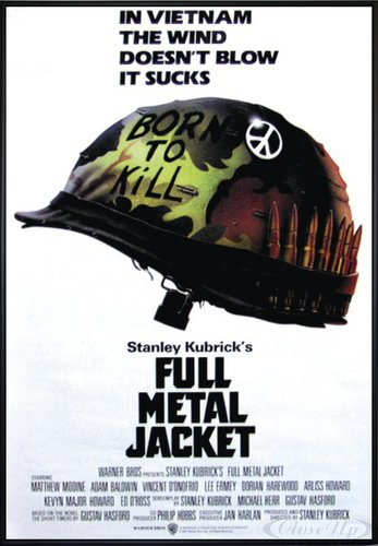 Close Up Full Metal Jacket Poster Helmet (101x71 cm) gerahmt in: Rahmen schwarz