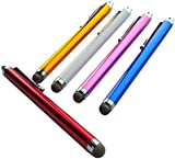 TEEPEE ONLINE® 5 x FABRIC MICRO FIBRE fiber STYLUS PEN for iPADS, TABLET , iPHONE, SAMSUNG , BLACKBERRY, NOKIA ..ANY TOUCH SCREEN DEVICE 5 COLOURS