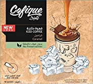 Cofique Iced Coffee Caramel, 10 Sachets x 24 gm (Pack of 1)