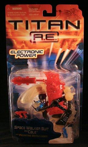 Titan A.E. SPACE WALKER SUIT & CALE w/ Pulsating Battle Light Electronic Power 2000 Action Figure (Titan-walker)