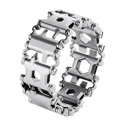 SODIAL Creative 29 pouces Multifonction Bracelet Tournevis Bouteille Ouvreur Survie En Plein Air Outils D'urgence leger bracelet