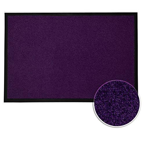 casa pura® Premium Fußmatte in attraktiver Optik | Schmutzfangmatte in 5 Größen | lila | 40x60cm