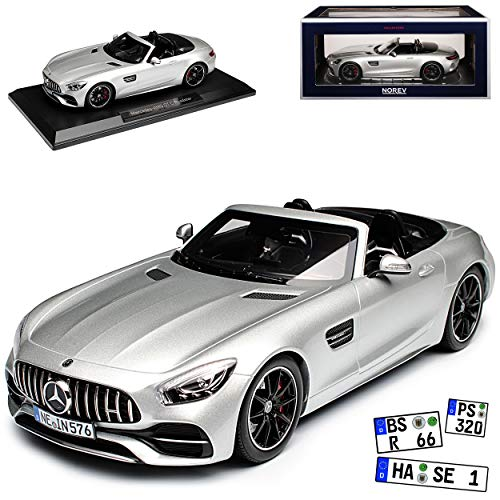 Norev Mercedes-Benz AMG GT C Cabrio Roadster Silber 2017 1/18 Modell Auto