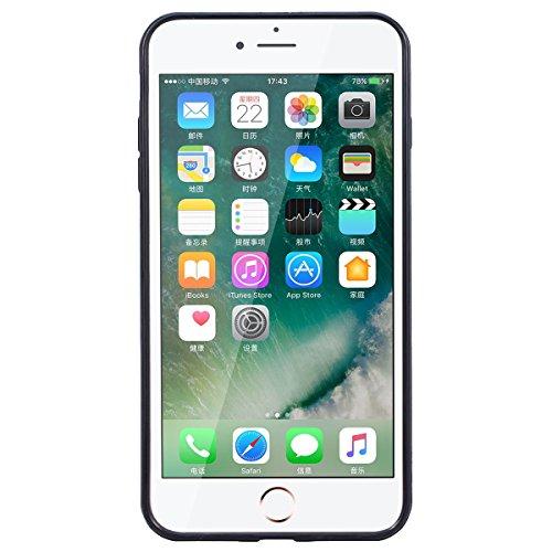 Yokata iPhone 8 Hülle Weiche Silikon 2 in 1 Handyhülle Schutzhülle TPU Handy Tasche Schale Etui Silicone Bumper Ultra Dünn Slim Premium Kratzfest Clear Backcover Schutz für iPhone 8 Case Cover + 1 x K Lila