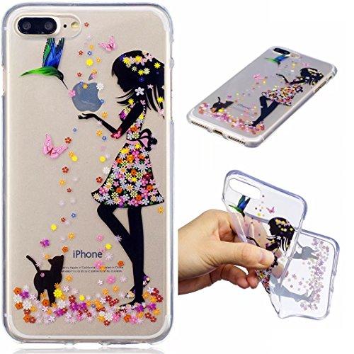 Coque iPhone 6/6S silicone Souple Housse transparent ultra fin TPU motif Peinture Coque DECHYI pour iPhone 6/6S.carrousel. fille