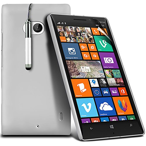 ( Blue ) Nokia Lumia 930 Tough Survivor Fest Rugged Shock Proof Heavy Duty Case W / Back-Stand, LCD-Display Schutzfolie, Poliertuch und Mini-versenkbaren Stift durch Spyrox Fester Einband (Weiß)