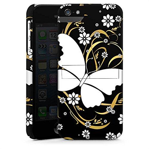Apple iPhone X Silikon Hülle Case Schutzhülle Schmetterling Blume Muster Premium Case StandUp