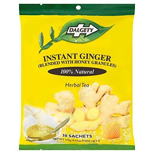 Dalgety Instant Ginger Herbal Tea Bag 270g (30 Sachets) -- Blended with Honey Granules