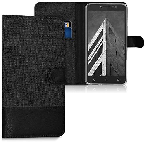 kwmobile Alcatel A3 XL Hülle - Kunstleder Wallet Case für Alcatel A3 XL mit Kartenfächern und Stand