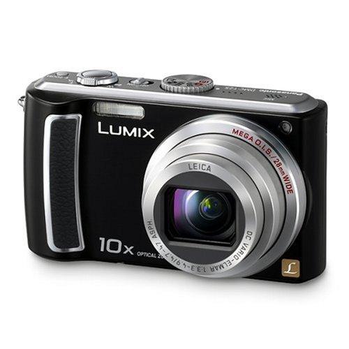 Panasonic DMC-TZ5-K Digitalkamera (9 Megapixel, 10-fach opt. Zoom, 7,6 cm (3 Zoll) Display, Bildstabilisator) tiefschwarz (Dmc Tz5 Panasonic)