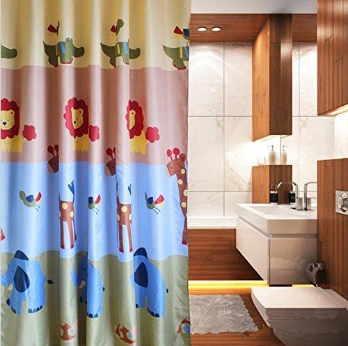 Home Decor Polyester drapieren Dicke waschbar Bronze TÜLLEN Wasserdicht Duschvorhang, 2, 200 * 180 (Badezimmer Duschvorhänge Bronze)