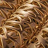 EQI Tischset Rund Gold, Platzset Rund für Hochzeit, Geburtstag, Weihnachten, Rutschfest, Durchmesser 38CM (Gold,6) - 6