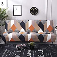 grefaydin Sofa Cover Feather Flamingo Stretch Armless Sofa Cover Couch Slipcover Furniture Protector - 3#