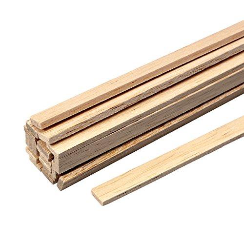 Balsaholz Streifen Stick Modellbau 300mm Stärke 8.0mm x 8.0mm 5Stück