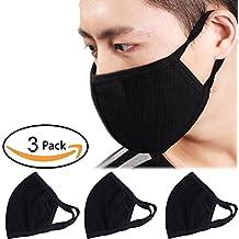 Máscaras algodón y carbón activado con estampado 3D para cara y boca, para hombre y mujer (3 unidades) – de BXT