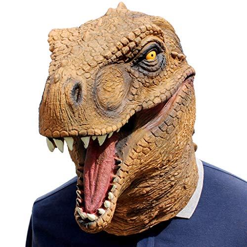 TINGSHOP Jurassic World Dinosaurier Maske, Latex Dinosaurier Masken Für Kostüm Maske Cosplay Halloween Scary Realistische Prop Party Weihnachten Karneval - Realistische Dinosaurier Kostüm Kinder