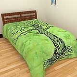 Narsinh_Soft_ Cotton Single Bedsheet - G...