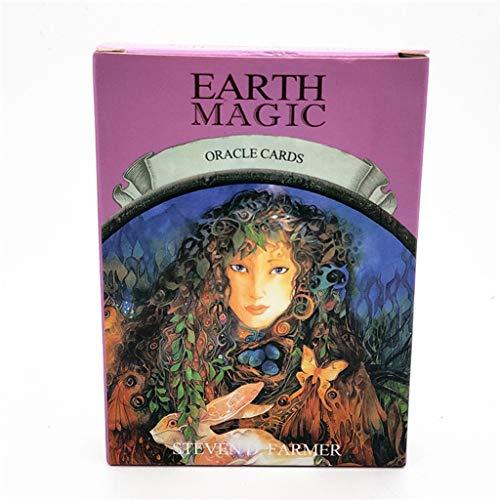 Dapei Tarot-Karten Deck Zukunft Spiel-Karten-Set Earth Magic Oracle Tarot 48Pcs / Set (Tarotkarten im Standardformat, 7.4 cm x 10.2 cm)