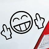 Auto Aufkleber in deiner Wunschfarbe Smiley Fuck You Lustig Shocker JDM Dub 13,6,5cm Autoaufkleber Sticker Folie