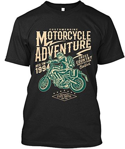 Stylisches T-Shirt Damen / Herren / Unisex S Motorcycle Adventure Schwarz