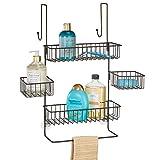 mDesign Estanterías de baño para colgar – Práctico colgador de ducha sin...