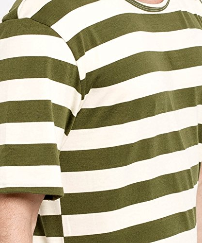 Phoenix Oversize Round T-Shirt Herren Longshirt Long Tee - Langes Shirt S,M,L,XL Olive-Beige