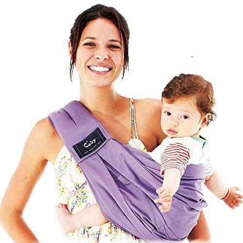 Cuby Baby Slings Carrier for Newborns and Breastfeeding (Purple)  Cuby