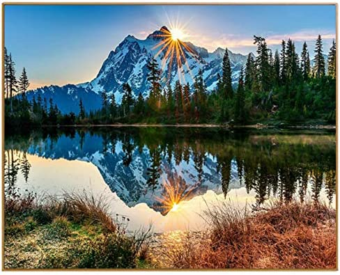 YKCKSD Puzzle Adulte 1000 1000 1000 Pièces Paysage De Lac DIY Photos Main Décor À La Maison | Nous Avons Gagné Les éloges De Clients  99df8e