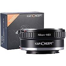 K&F Concept Anello Adattatore AI-NEX per Obiettivo di Nikon AI a Fotocamera di Sony E-mount Sony A6000 A5000 A3000 NEX-3 NEX-3C NEX-3N NEX-5 NEX-5C NEX-5N NEX-5R NEX-5T NEX-6 NEX-7 NEX-F3 NEX-VG10 VG20