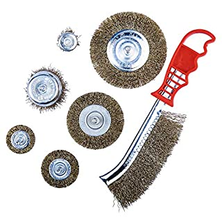 Am-Tech F3610 Set 7 Metallic Wire Brushes