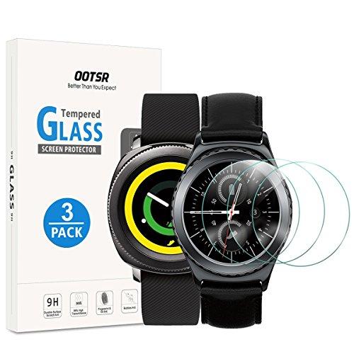 OOTSR (3 Stück) Bildschirmschutzfolie für Samsung Gear Sport/Gear S2, Panzerglas Schutzfolie für Samsung Gear S2 / Sport [Kratzfest] [Transparent] [Blasenfrei]