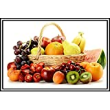 Graphics World Kitchen Decor Poster Vegetable & Fruit Photo Vastu Painting, Wall Sticker (Multicolour, 12x18 Inches)