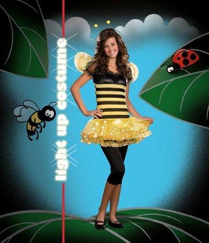 ke-up Party Kleidung Festival Fasching Karneval Cosplay Maskerade Erwachsene Kostuem Sexy Besetzt Lil Bee Bumblebee Leuchten Kostuem Junior XS 0-2. (Sexy Bumblebee Kostüme)