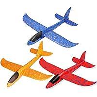 3pcs Avión Planeador Glider Avion Juguete Infantil, Planeadores De Espuma EPP, Buena Flexibilidad Y Resistencia Al Impacto, Puede Doblarse, No Es Fácil De Romper, Niños Aviones Juguetes