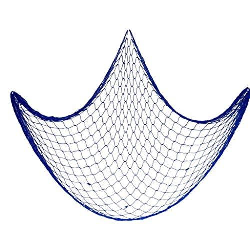 Fliyeong Durable Die Mittelmeer Stil Wandaufkleber Fischernetz Dekoration Wandbehänge blau