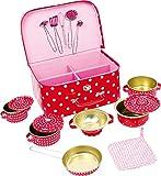 Furtwängler Kochgeschirr Küchenspielzeug rot mit Pünktchen 13er Set