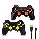 2 x Mandos Inalámbrico Bluetooth Controller Doble Vibración para Sony PS3 PlayStation 3 con...