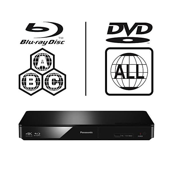 Panasonic DMP-BDT170EB Smart 3D 4K Upscaling ICOS Multi Region All Zone  Code Free Blu-ray Player  Blu-ray regions A, B and C, DVD regions 1 - 8