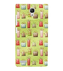 KIDDISH PATTERN WITH MULTICOLOURED GIFTS 3D Hard Polycarbonate Designer Back Case Cover for Xiaomi Redmi Note :: Xiaomi Redmi Note 4G