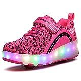 Kinder LED Schuhe Jungen Mädchen Skate Turnschuhe mit Rollen Sportschuhe Automatische