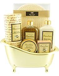 Baignoire de Bain - produits de beauté parfum chocolat - 6 Pcs