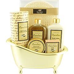 Idea Regalo - Gloss, Set di prodotti da bagno al cioccolato, in cofanetto regalo