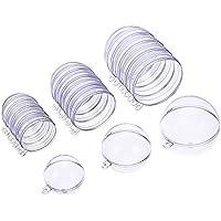 Molde de Bomba de Baño de Plástico Transparente para Manualidades Bola de Adorno de Navidad, 3 Tamaños, 15 Set