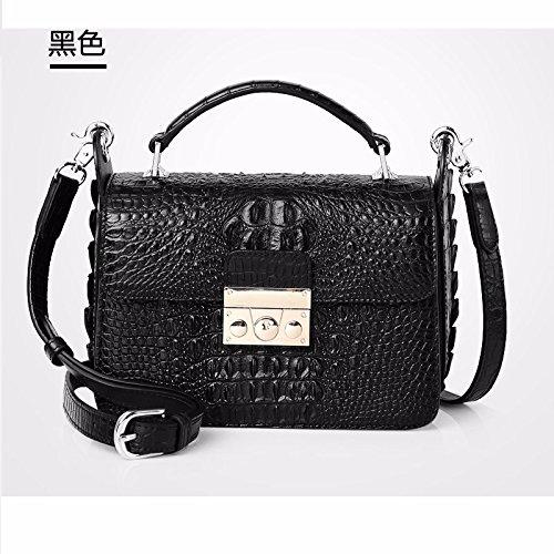lpkone-Nouveau motif crocodile sac à main épaule bandoulière sac sac pour femme Black