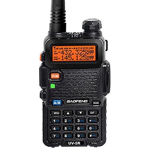 BaoFeng UV-5R 136-174/400-480 MHz Dual-Band DTMF CTCSS DCS FM Ham Two Way Radio (Audio-video-receiver Hd-radio)