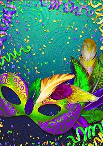BuEnn 5X7ft Maskerade Maske Theme Fotografie Hintergrund Karneval Maske Maskerade Bunte Dark Retro Muster Poster Hintergründe für Geburtstagsfeier Banner Dekoration Studio Requisiten (Für Maskerade-maske Verkauf)