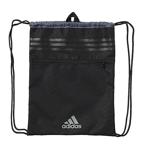 adidas Sportbeutel 3-Streifen, Black/Visgre, 37 x 47 cm, AK0005