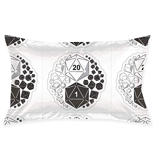 throw pillowcase Dungeons and Dragons Yin Yang Pillow Case Cover 20X30 in Hidden Zipper Double-Sided Printing Modern Couch Sofa Waist Home Decor