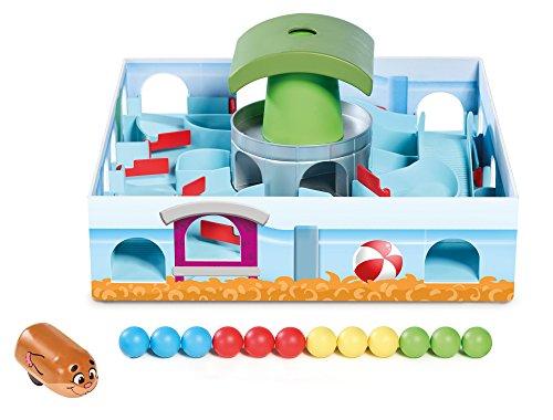 TOMY Hamsterrennen - Geschicklichkeitsspiel für die ganze Familie - Klassisches Labyrinth Spiel - Hochwertiges Kinderspielzeug ab 4 Jahren